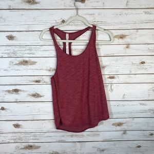 Lululemon pink/red tank top size 2